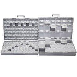 AideTek SMT caja vacía de almacenamiento Caja de Herramientas compartimentos cada uno con tapa SMD BOXALL144 + BOXALL48 caja organizadora artesanal Almacenamiento de cuentas