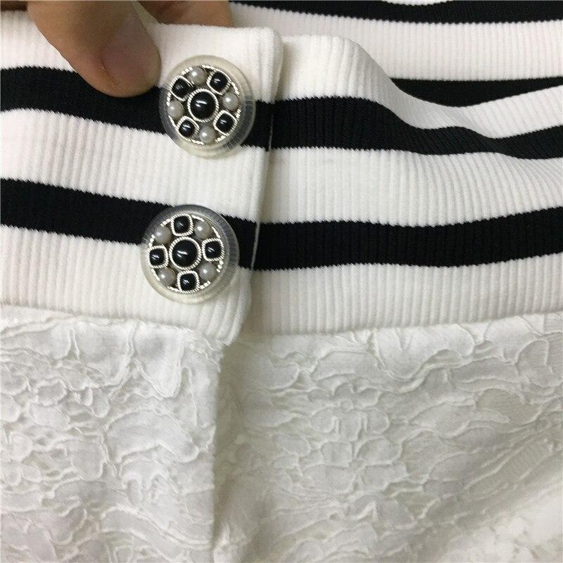2018 Dame Robe Manches Genou Femmes longueur Nouvelle Les Qualité Bureau Top Blanc Pour Sans Mode xYAwf6Anqg