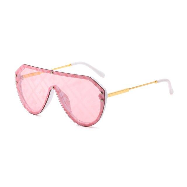 H2OR3 Brand Designer 2019 Oversized Frame Women Sunglasses Fashion Gradient Red Pink Women's F Sun Glasses Shade Goggle UV400