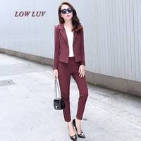 New Arrival 2017 New Arrival Fashion Fashion Women S Business Pants Suits Striped Slim Blazer Coat