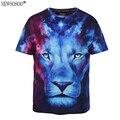 Marca plus size l-3xl newsosoo leão pintura a óleo camisa estampada t homens de alta qualidade t-shirt de manga curta em 3D para o sexo masculino Grande Quente T6