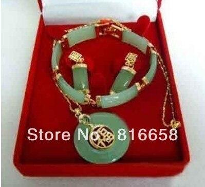 Бесплатная доставка @ красивый зеленый нефрит серьги колье bracelet zip earings bigearrings circle   АлиЭкспресс