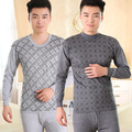 Siriusha Male Thin Cotton Long Johns Print Basic Plus Size! Cotton  Thermal Underwear Two Colors and Two Collars