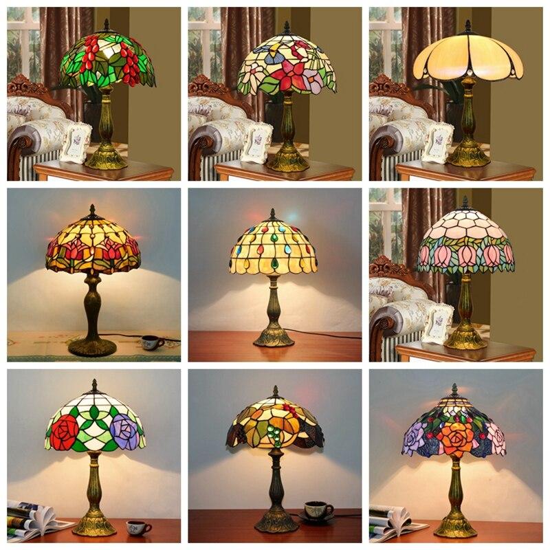 Antique byed art light handmade creative glass mosaic light bar cabinet bedside cashier mediterranean lamps|LED Table Lamps| |  - title=