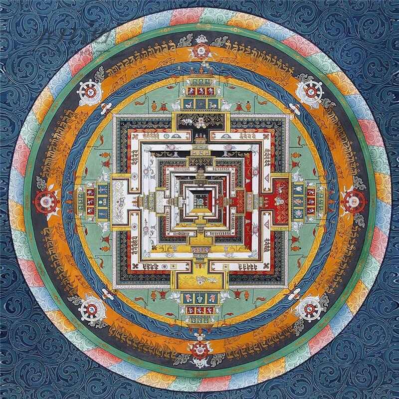Michelangelo Wooden Jigsaw Puzzle 900 Piece Sanskrit Palace Mandala Tibetan Buddhist Thangka Painting Art Collectibles Toy Decor