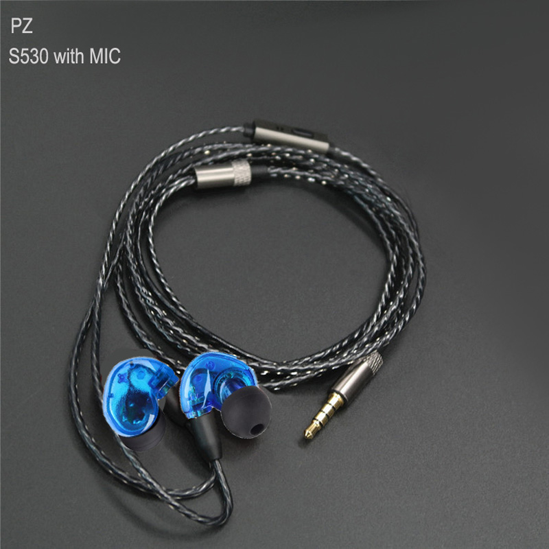 Pizen NEW S530 PRO sport in ear earphone Earbuds with replace wire mmcx cable for shure se215 se846 se535 earphones vs xiaomi