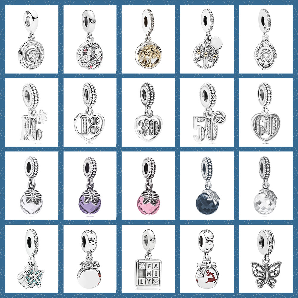 925 Silver 1:1 Jewelry Openwork Butterfly Celebrate 30 Faceted Family Heritage Two-Tone Magic Mirror Charm Heart-Shape Pendant925 Silver 1:1 Jewelry Openwork Butterfly Celebrate 30 Faceted Family Heritage Two-Tone Magic Mirror Charm Heart-Shape Pendant