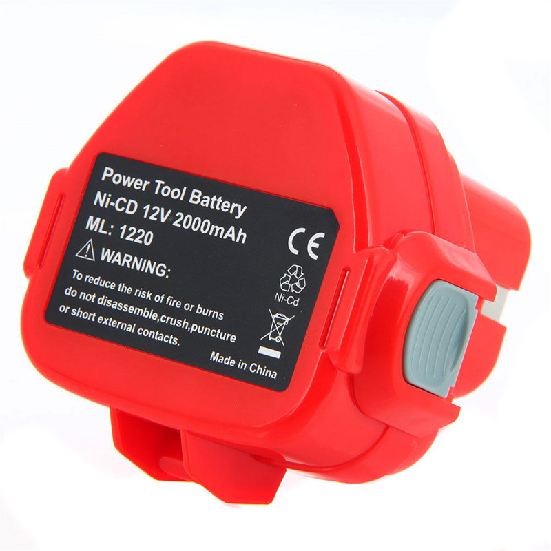 1 pc Rechargeable Battery for Makita 12V PA12 2000mAh Ni-CD Replacement Power Tool Battery for Makita 1220 1222 1233S 12 high quality 14 4v 2000mah ni cd replacement power tool battery for bosch bat038 bat040 bat041 bat140 2 607 335 711 charger