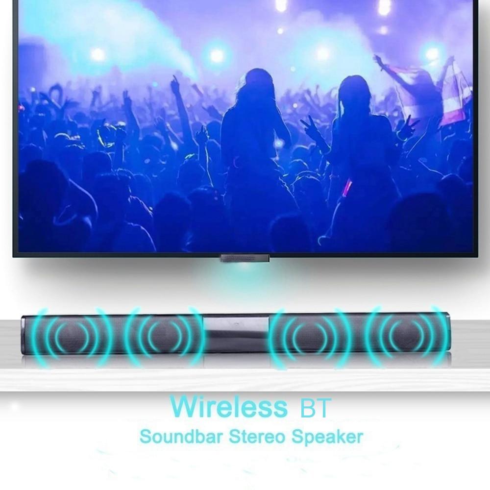 Portable Wireless Column Sound bar Bluetooth Speaker Powerful 3D Soundbar Super Bass Aux 3.5mm FM Radio TF Column Box For TV PC