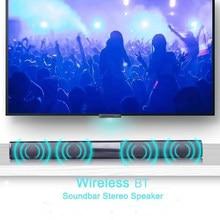 20w coluna sem fio portátil soundbar bluetooth alto-falante poderoso 3d música som barra de cinema em casa aux 3.5mm tf para tv pc