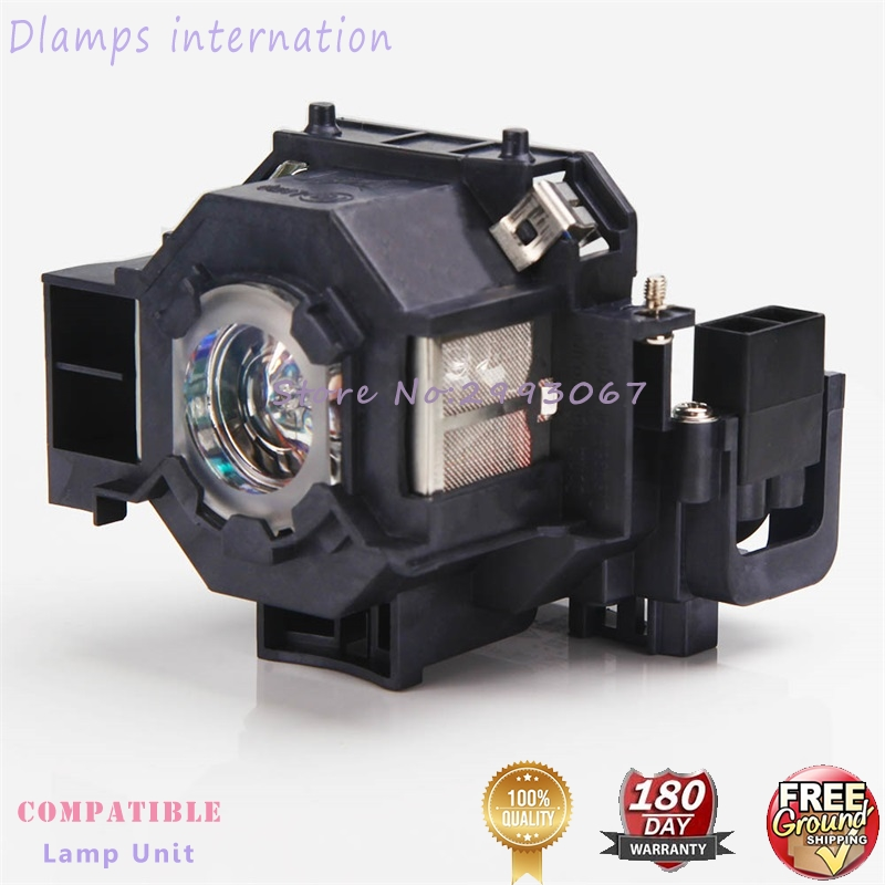 ELPLP41 Replacement Lamp with housing for Epson S5/S6/77C/8,EMP-S5,EMP-X5,H283A,HC700,H284B,EMP-X52,EMP-S52,EH-TW420 replacement projector lamp elplp32 v13h010l32 for epson emp 750 emp 740 emp 765 emp 745 emp 737 emp 732 with housing