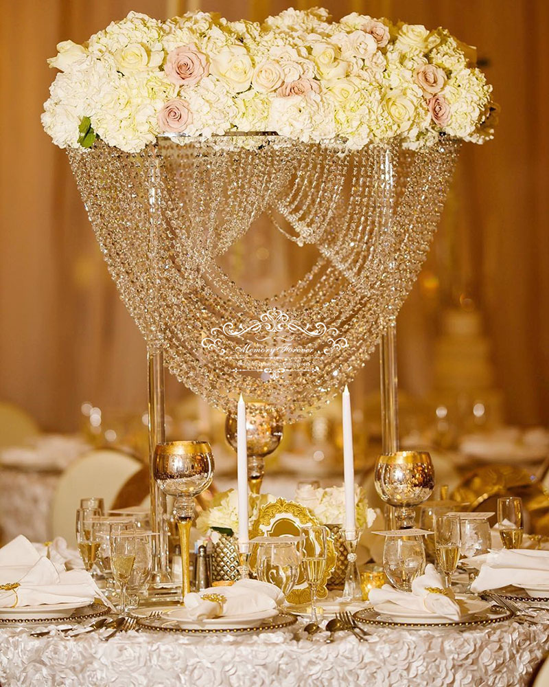 80cm Tall Wedding Crystal Flower Stand Table Centerpiece