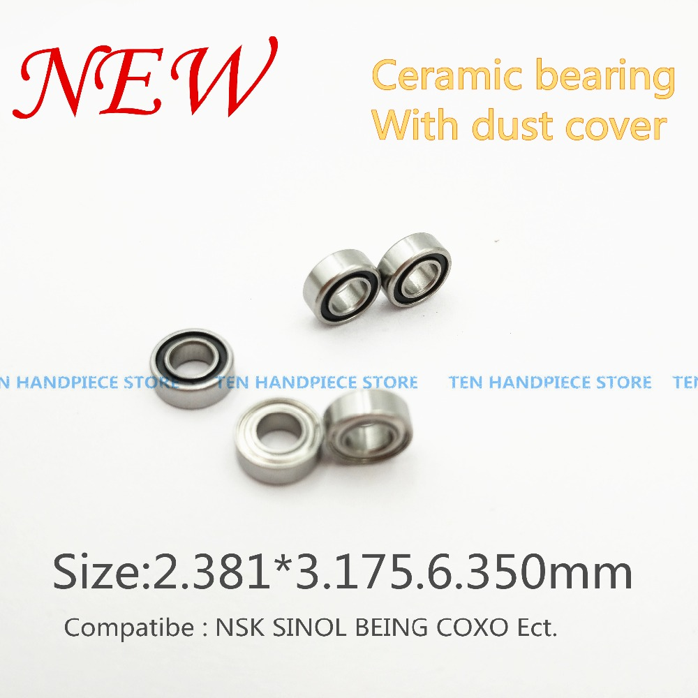 US $28 5 5% OFF|2018 good quality 10pc SR144 high speed handpiece ceramic  bearings nsk tosi coxo compatible Dental Bearings 3 175*6 35*2 381 mm-in