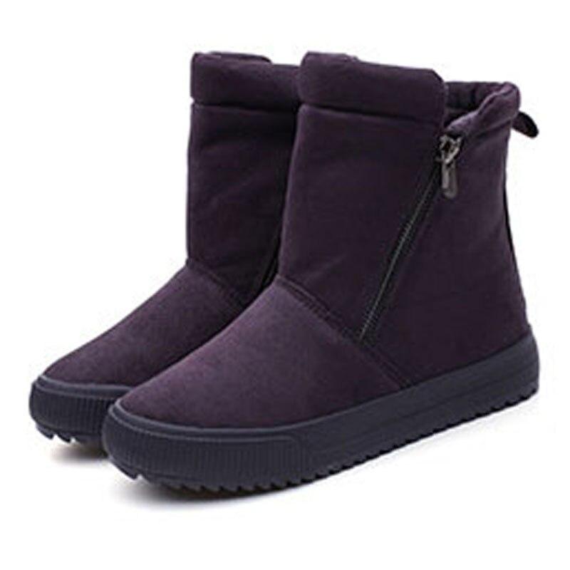 Automne Confort red Rond Black Dames Martin Bottes Femme Jusqu'à Dentelle Chaude 2018 Chaussures Plat Femmes beige Bout Solide purple Casual IZ6wxHqS