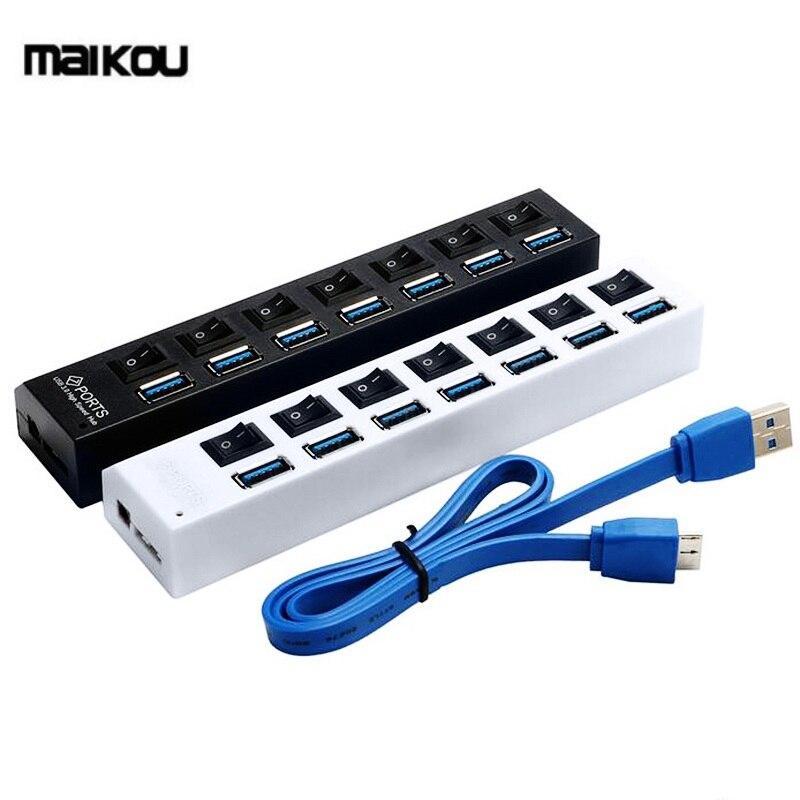 Multi-7-Ports-USB-HUB-3-0-Super-Speed-5Gbps-Mini-USB-3-0-HUB-USB