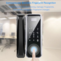 Eseye Fingerprint Lock Wood Glass Doors Keyless For Office and Homes Anti theft Smart Card Biometric Door Lock Glass Door Lock