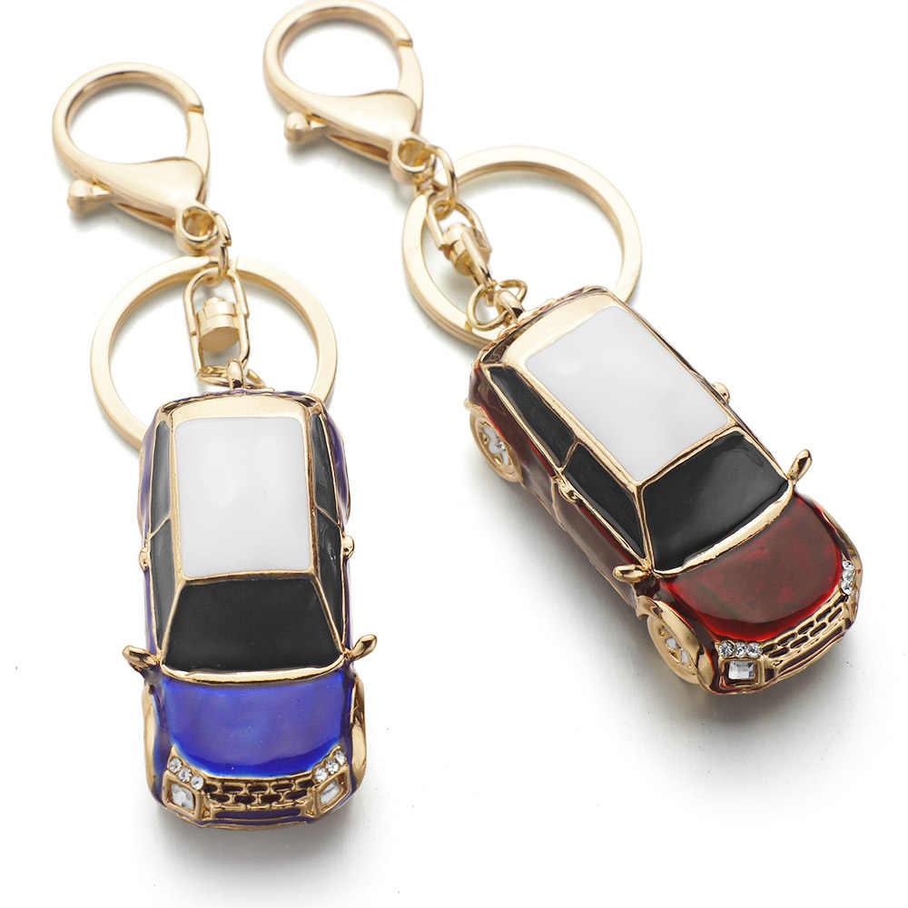 Ename Dalaful Cool Car Chaveiro Keychain de Cristal Bolsa Pingente Vívida Bolsa Saco Fivela Chave Anéis Titular Cadeias K318