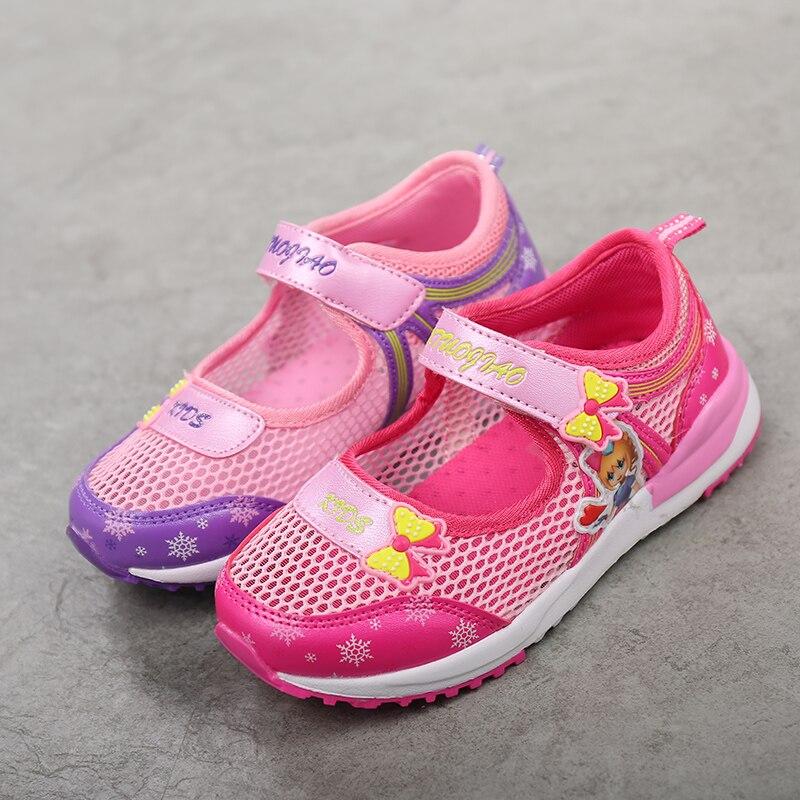 ULKNN  Kids Sandal Cut-out Cartoon Mesh Quick-dry Water Sandals Summer Beach Girls Sandals For Children Shoe Tenis Infantil