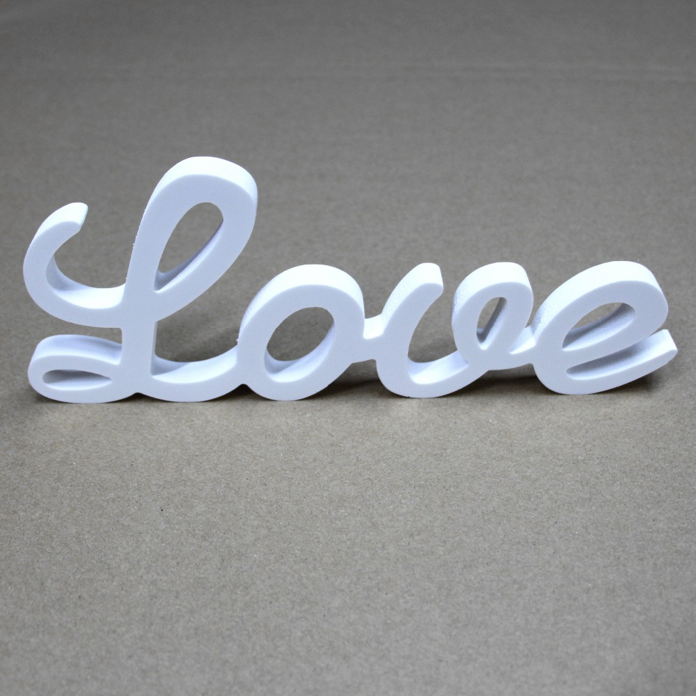 Skräddarsy några Wood Conjoined ord Wooden White Letters Alfabetnamn Födelsedag Gåva Bridal Wedding Party Home Decorations gåvor