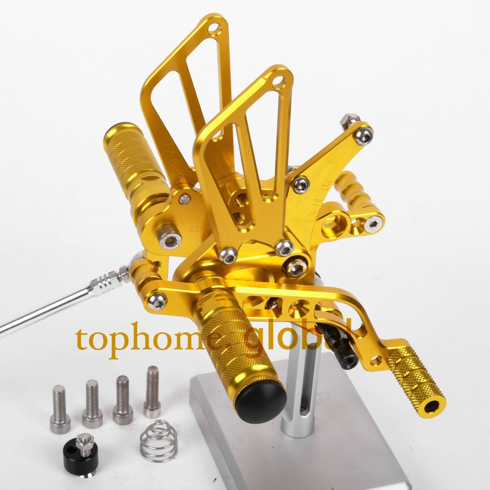 CNC Motorcycle Parts Golden Color Rearsets Foot Pegs Rear Set For BENELLI BN600 2013
