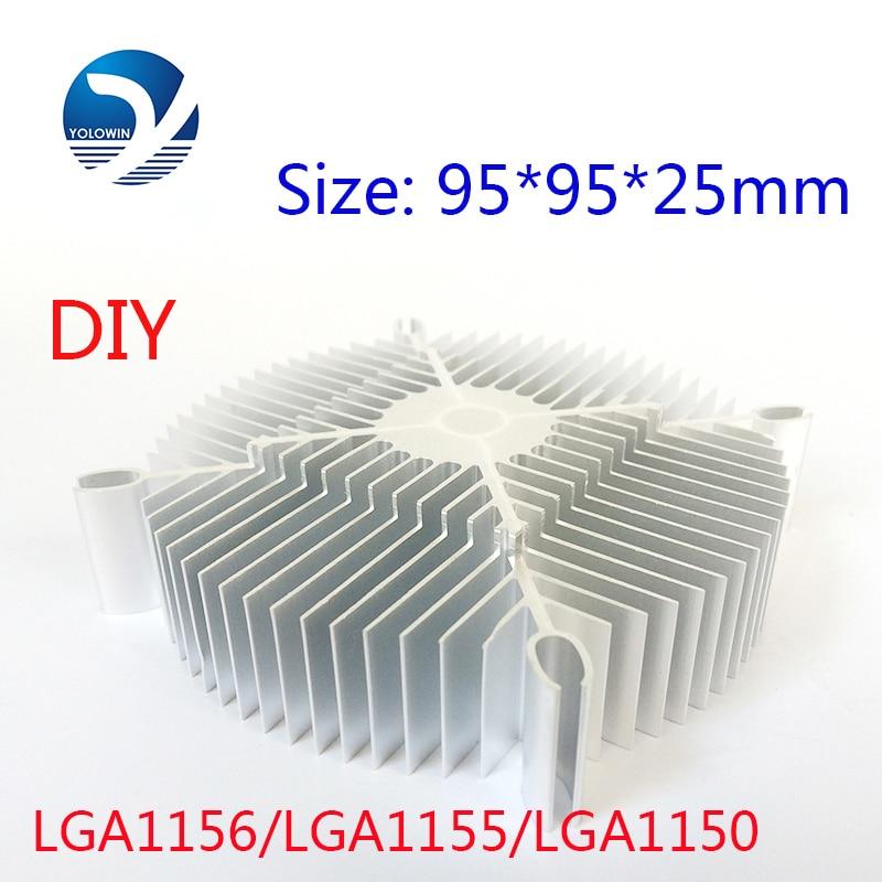 2ks / Set LED Eletronic Heatsink 95 * 95 * 25mm chladič čistého hliníku Radiátor chlazení chladiče chladiče Příslušenství YL-0008