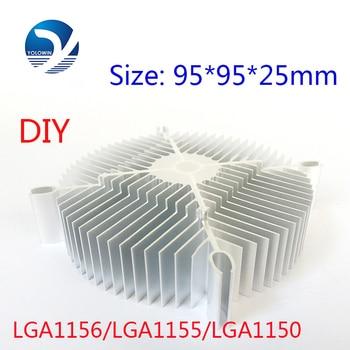 2Pcs/Set  LED Eletronic Heatsink 95*95*25mm Pure Aluminium Heat Sink Radiator For Led Light  Cooler Cooling Accessories YL-0008
