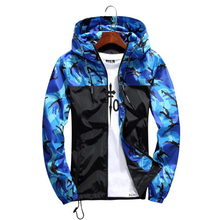 Men Hip Hop Streetwear Hooded Jackets MenS Camouflage Color Block Pullover Bomber Jacket Fashion Tracksuit Plus Size 5XL