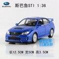 Candice guo Yufeng de aleación modelo de coche Subaru STI racing vehículo plástico deporte motor tire hacia atrás juguete de regalo de navidad de cumpleaños