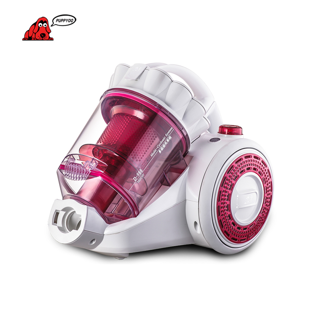 PUPPYOO Best Selling &Low Noise Mites Vacuum Cleaner For Home Aspirator Powerful Suction Dust Collector D-988