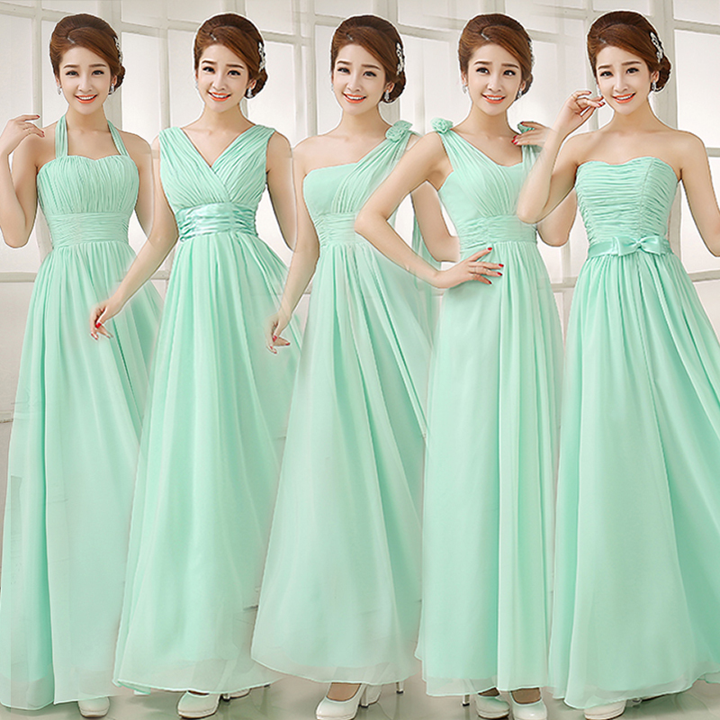 Popular Strapless Light Green Chiffon Bridesmaid Dress-Buy Cheap ...