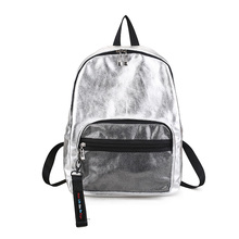 2019 new fashion simple street hit color couple couple shoulder bag trend metal color student bag large capacity backpack Y304