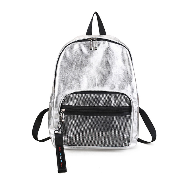 6d99aa014ed7 2019 new fashion simple street hit color couple couple shoulder bag trend  metal color student bag