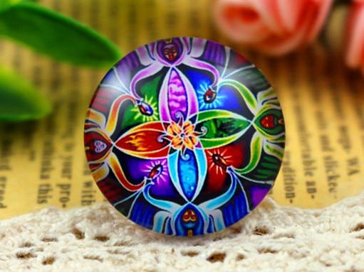 New Fashion 5pcs/Lot 25mm Handmade Photo Glass Cabochons Bright F3-02