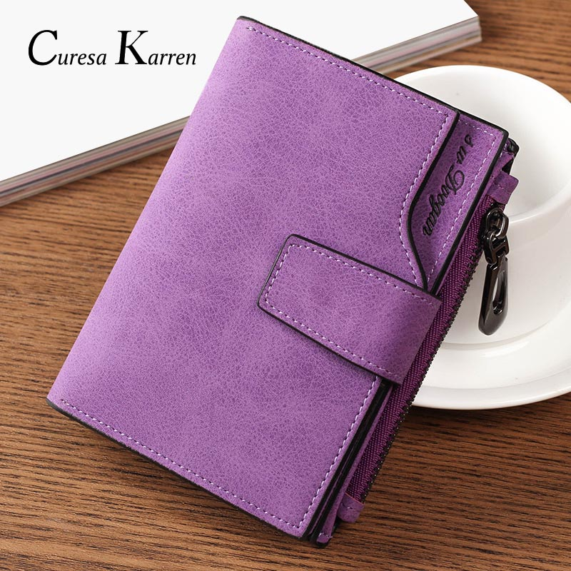 New Ladies Short Wallet Women's Zipper Wallet Multi-function Fashion Simple Fresh Large-capacity Leather Coin Purse(China)