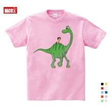 Leisure Time Cartoon Dinosaur Animal Print Boys T Shirt Tops White Tshirt Fashion Summer Clothes Kids Costume T-shirt