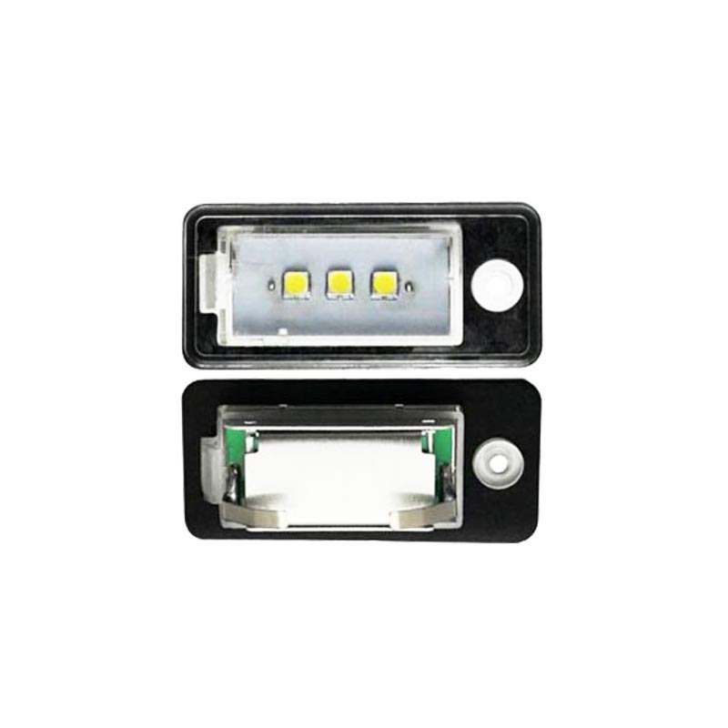 HOPSTYLING 2PCS super bright 3SMD 5050 LED License Plate Light Canbus  Auto accessory  styling For Audi A3 A4 A6 A8 Q7 RS4 RS6