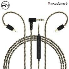 Аудио кабель RevoNext 2 Pin 0,78 мм Съемная Hifi кабель аудио кабель 3,5 мм обновлен кабель для наушников QT2/QT3/RX8