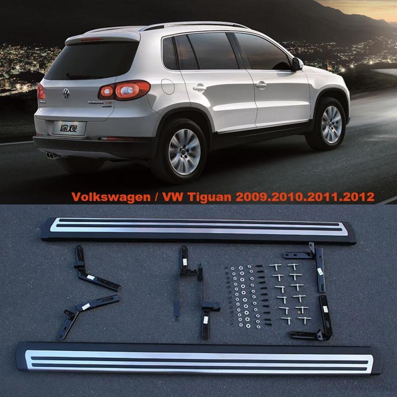 Для Volkswagen VW Tiguan 2009.2010.2011.2012 автомобиля Бег Панели Авто шаг в сторону Бар Педали для автомобиля высокое качество оригинальный Дизайн Nerf бары