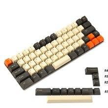 YMDK Carbon 64 68 Minila Keyset Thick PBT OEM Profile Keycaps For Filco Minila YD60M XD64 GK64 Tada68