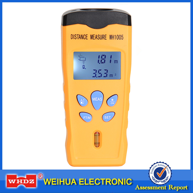 WHDZ WH1005 Ultrasonic Laser Distance Meter Mini Range Finder Pointer Area Volum Meter Measure Tester Portable 0-18M Backlight cp 3005 lcd and backlight ultrasonic laser point distance measurer from 0 5m to 18m resolution