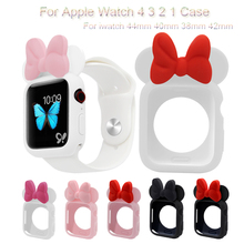 Cute Watch Case For Apple Watch 4 3 2 1 Soft TPU Protective Cover For iwatch 44mm 40mm 38mm 42mm Bumper Frame Shell Accessories