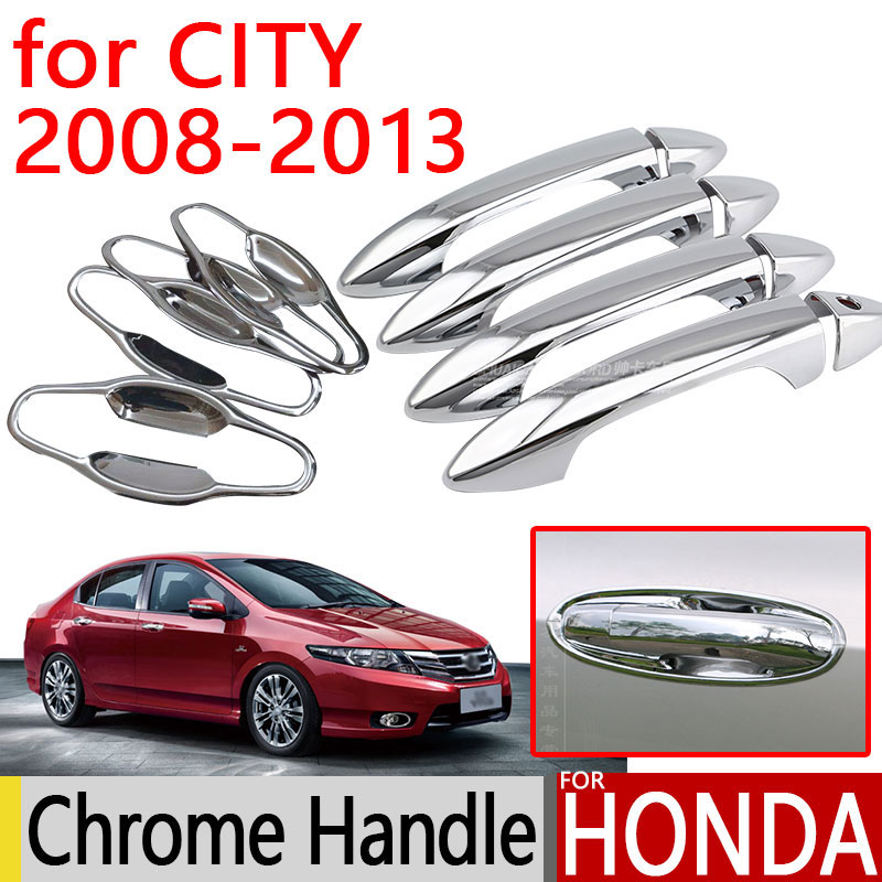 for Honda City 2008 2013 Accessories Chrome Door Handle Covers ...