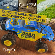 New 1:12 Scale 40km/h Electric RC Car 2.4G 4WD Short-course Four-wheel Drive Truck Remote Control Car Toy for Kids Wholesale
