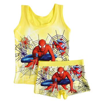 Nowy 2020 letnie ubrania dla dzieci chłopiec spiderman zestaw dla dzieci dziewczyny zestaw plażowy dorywczo dziewczyna mleko jedwabne kamizelki + krótkie spodnie 7 stylów tanie i dobre opinie linqirkiss Aktywny O-neck Zestawy Swetry spandex Włókno bambusowe Unisex Bez rękawów REGULAR Pasuje prawda na wymiar weź swój normalny rozmiar