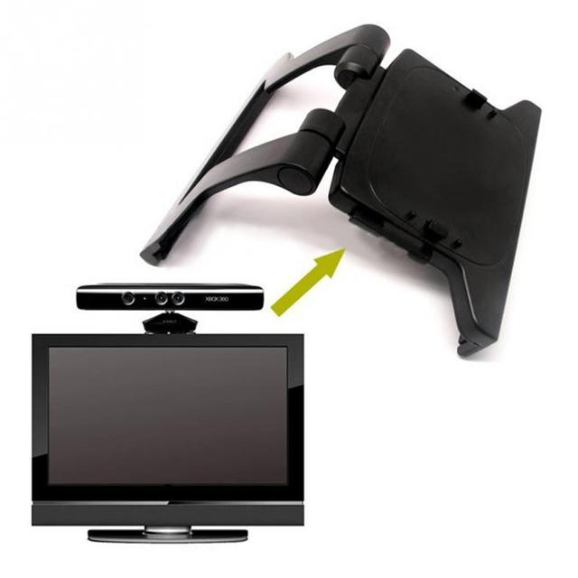 Black Mini Camera TV Clip Holder for Xbox 360 Kinect Video Games Mounting  Stand With Retail Gift Box&Tracking Number