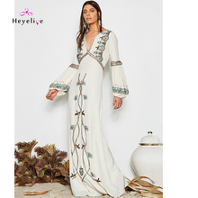 New Bohemian Embroidered Dresses For Women Sexy Holiday Long Dress With Sleeves and Fashion Pattern