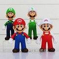 4 Diferentes figuras de Super Mario Bros 12-13 CM Figuras PVC Modelo Muñecas Juguetes para Niños de Colección Mejor regalo de Cumpleaños regalos