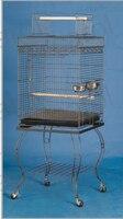 Metalen Grote Vogel Papegaai Kooi Open Top Met Stand Vogel Huis 20x20x57 ''Zwart Ader Kleur b12X|parrot cage|parrot bird cagelarge parrot cages -
