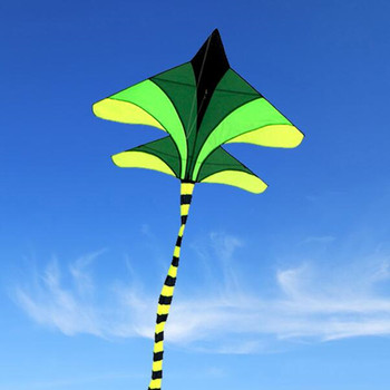 Free shipping high quality large plane kite line outdoor toys flying nylon ripstop fighter windsock power paraglider
