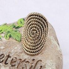 Vintage Gold Gothic Rings for Women Party Geometric Thread Zinc Alloy Hyperbole Big Finger Ring Bague Femme Wholesale vintage alloy faux sapphire geometric ring for women